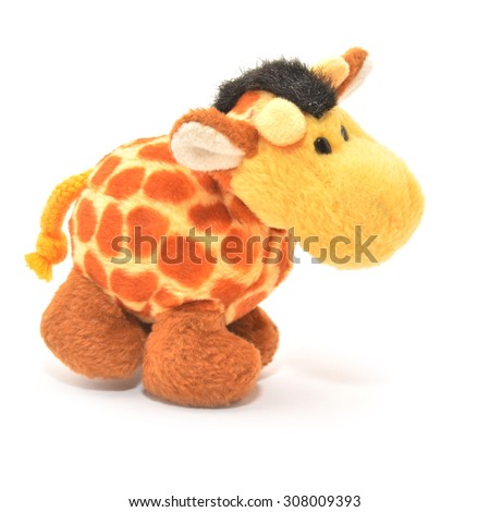 giraffe  toy   - stock photo