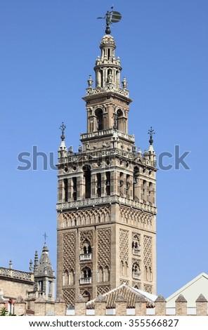 Giralda Bell Tower in Sevilla, Spain - stock photo