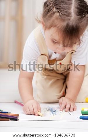 Girl-artist - stock photo