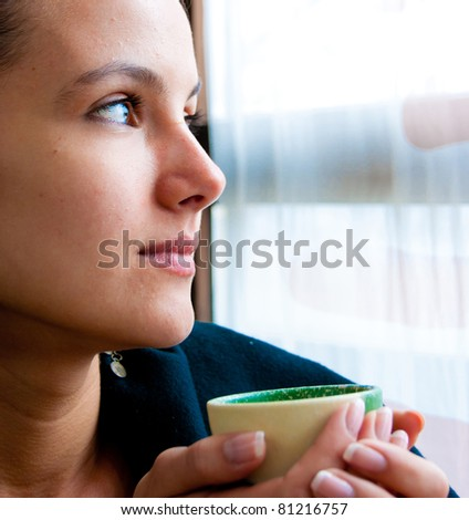 Girl Dinner Cup - stock photo