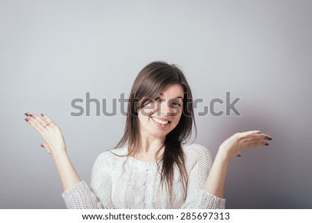 girl  do not know - stock photo