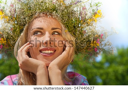 Girl Enjoying  Summer Freedom - stock photo