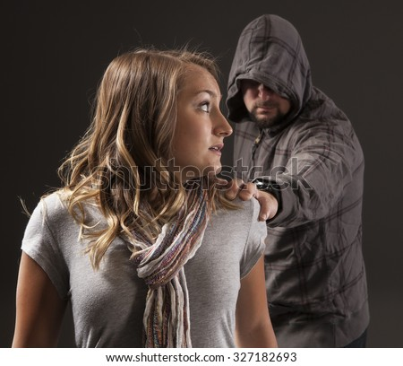 GIRL FIGHTS BACK SELF DEFENSE | A young woman sees a suspicious person.  Refuse to be a victim.  