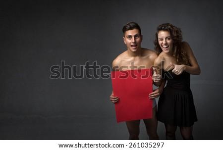girl flirting with stripper - stock photo