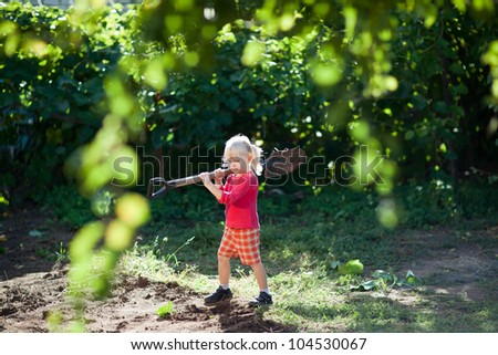 girl helps to jump - stock photo