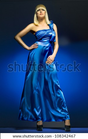 girl in a dress - stock photo