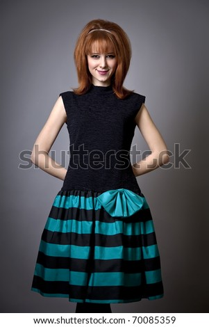 Girl in american 50s-60s style - stock photo