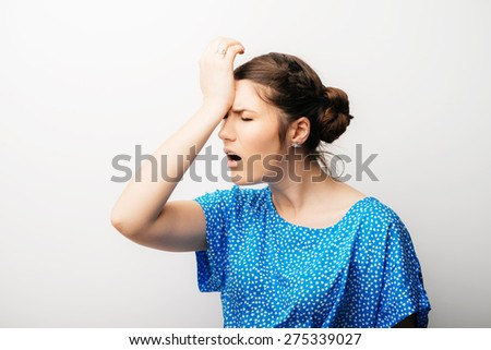 girl in annoyance - stock photo