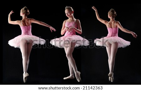 Girl in classical ballet pose - stock photo
