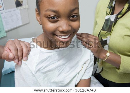 Girl in hospital - stock photo
