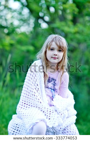 Girl in park - stock photo