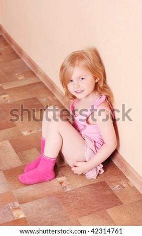 girl indoor - stock photo