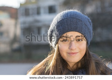 girl is smiling - stock photo