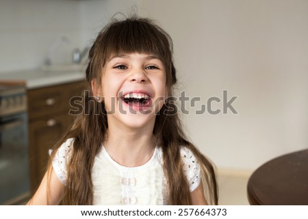 girl laughing - stock photo