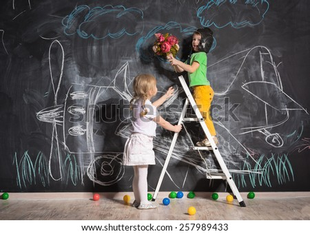 Girl meets her favorite guy from flight  - stock photo