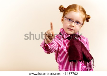 Girl redhead elegant with glasses against slightly purple background showing various facial expresions and copy paste space - stock photo