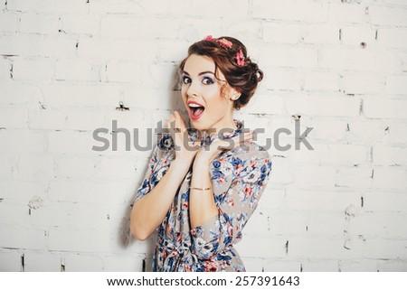 girl secret - stock photo