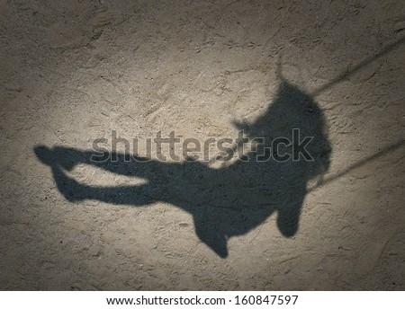 Girl Shadow - stock photo