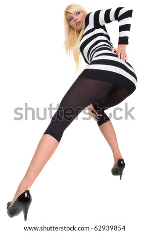 girl shows her ass - stock photo