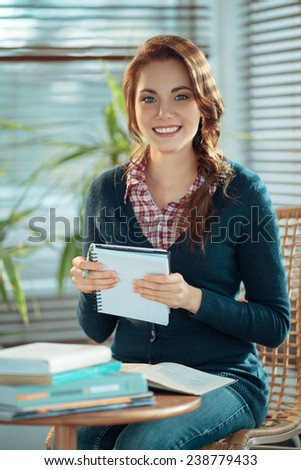 Girl studying - stock photo