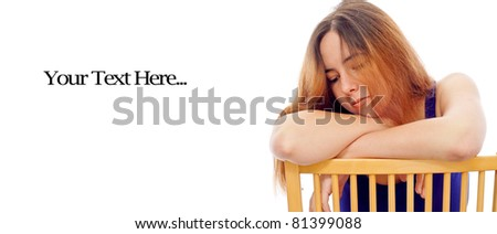 Girl Suffering the Effects Bipolar Disorder - stock photo