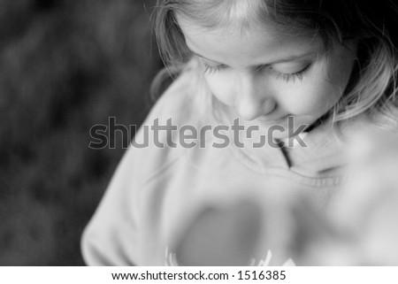 Girl thinking - stock photo