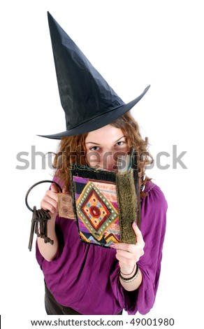Girl witch. - stock photo