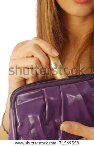 Girl with a clutch 007 - stock photo
