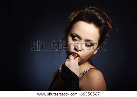 Girl with candy - stock photo