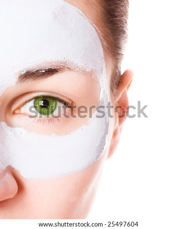 Girl with face mask - stock photo