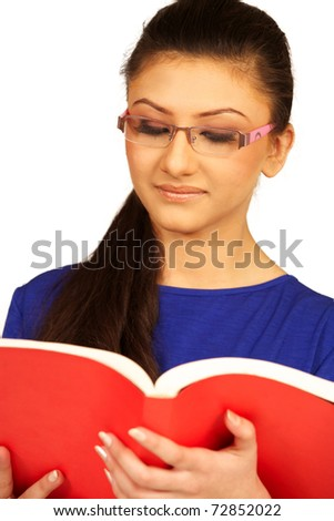 girl with open book. - stock photo
