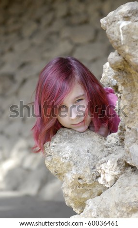 Girl with Red hair - stock photo