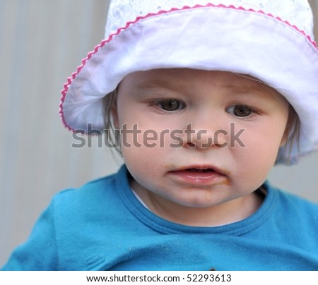 girl with sun hat - stock photo