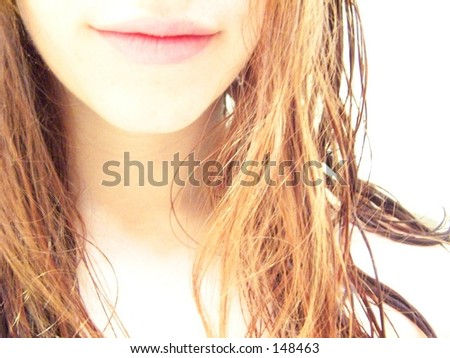 girl with wet hair - stock photo