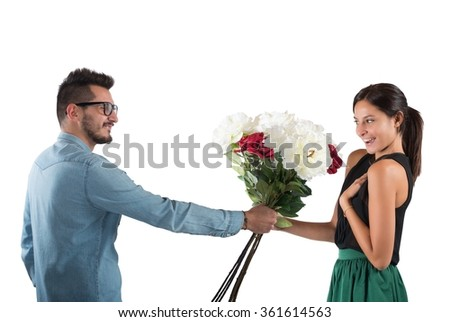 Girlfriend and boyfriend - stock photo