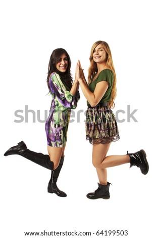 Girlfriends having fun - stock photo