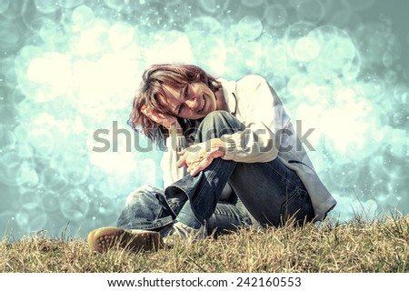 Give a smile - stock photo