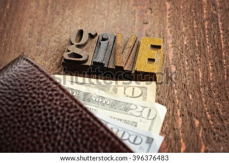Give Money - stock photo