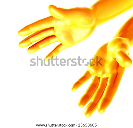 Giving blessing or giving a hub position - stock photo