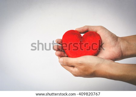 giving heart - stock photo