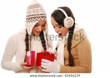 Giving someone special a present - stock photo