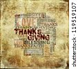 Giving Thanksgiving Offering  Blessing Background - stock photo