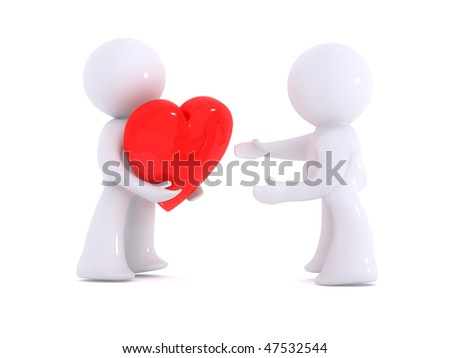 Giving the love - stock photo
