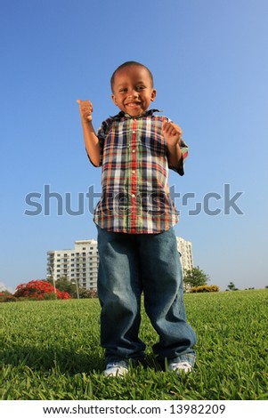 Giving Two Thumbs-Up - stock photo