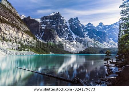 Glacial Lake - stock photo