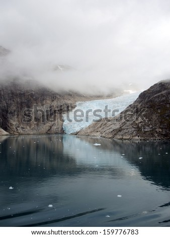 Glacier at Prinz-Christian-Sund, Greenland - stock photo