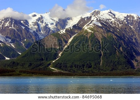 Glacier Bay National Park landscape - stock photo