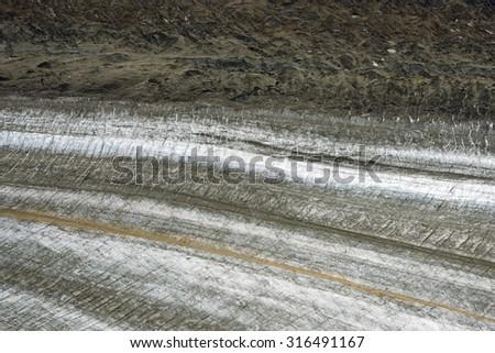Glacier Edge, Kluane National Park, Yukon - stock photo