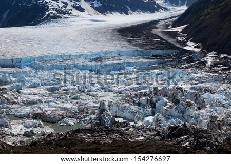 Glacier Ice Melting, Climate change  - stock photo