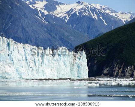 Glacier in Alaska - stock photo